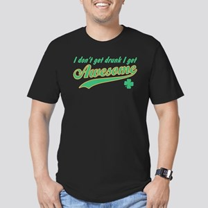 [Green] I Get Awesome Men's Fitted T-Shirt (dark)